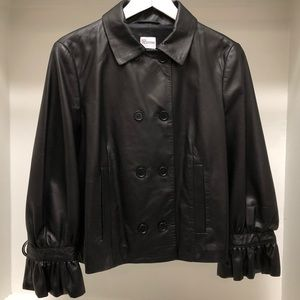 RED Valentino Lambskin Leather Jacket in Black